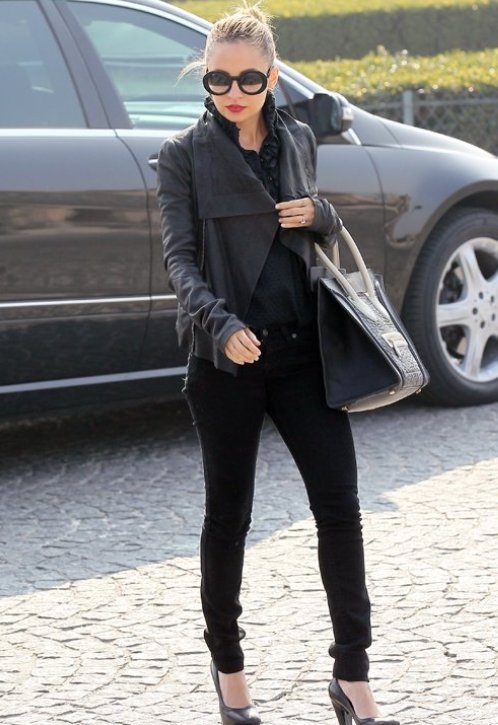 nicole-richie-jeans-leather-jacket