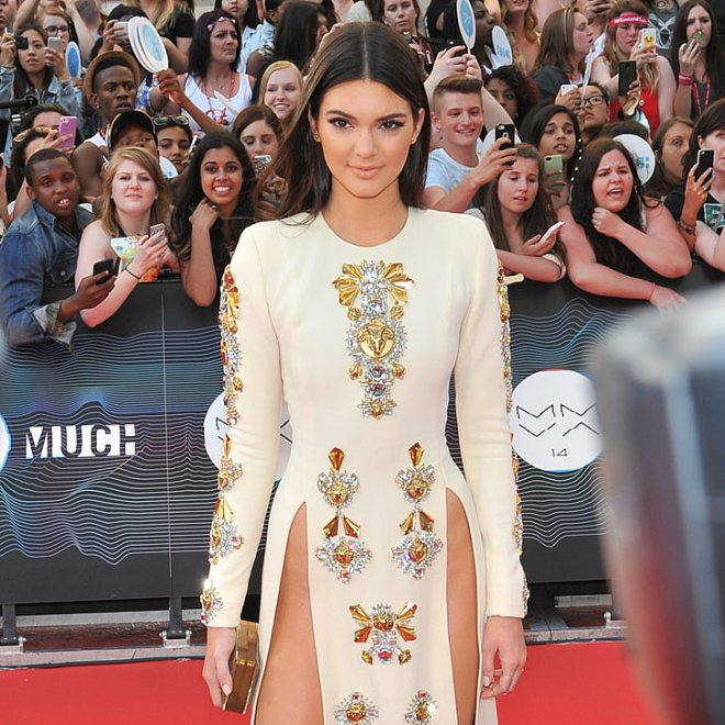 Kendall-Jenner-Fausto-Puglisi-Thigh-Split-Dress